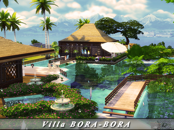 Villa BORA BORA by Danuta720 at TSR image 32 Sims 4 Updates
