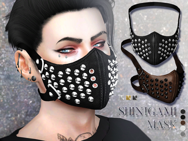 Sims 4 Shinigami Mask by Pralinesims at TSR
