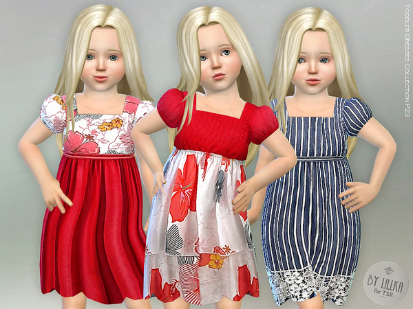 Sims 4 Toddler Dresses Collection P23 by lillka at TSR