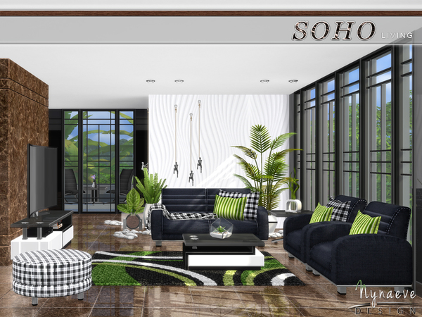Soho Living Room by NynaeveDesign at TSR image 329 Sims 4 Updates