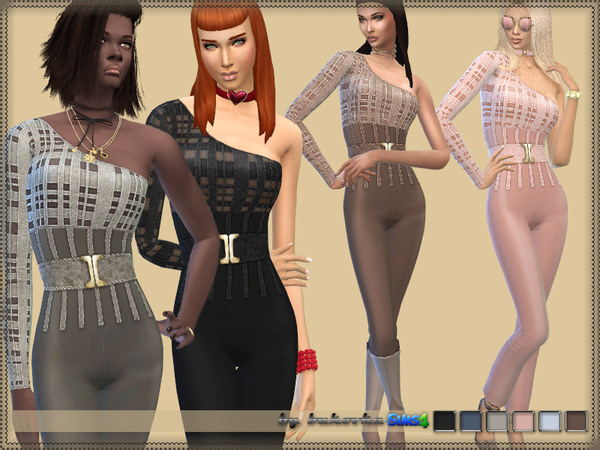 Sims 4 Overall & One Sleeve by bukovka at TSR