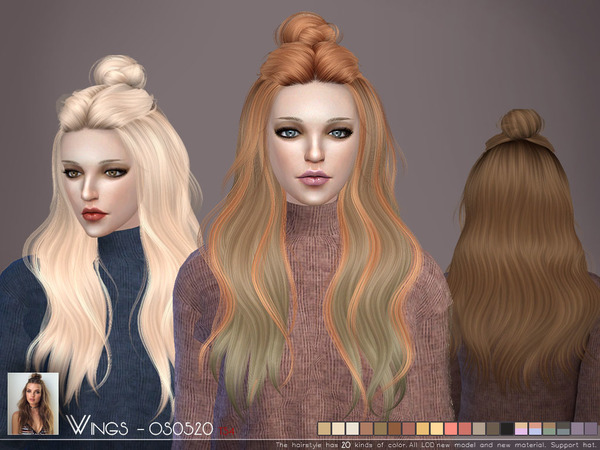 OS0520 hair by Wings Sims at TSR image 350 Sims 4 Updates
