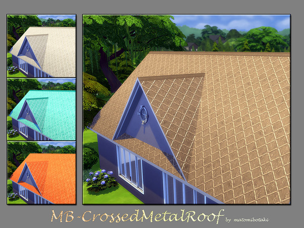 MB Crossed Metal Roof by matomibotaki at TSR image 3512 Sims 4 Updates