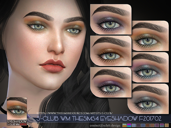 Eyeshadow F201702 by S Club WM at TSR image 359 Sims 4 Updates