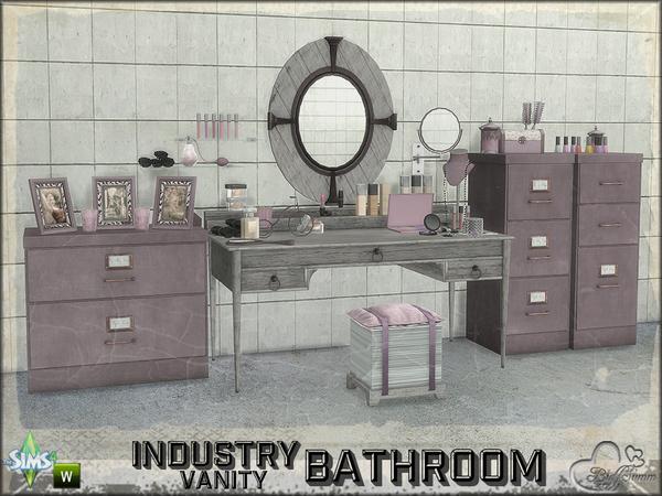 Sims 4 Vanity Bathroom Industry by BuffSumm at TSR