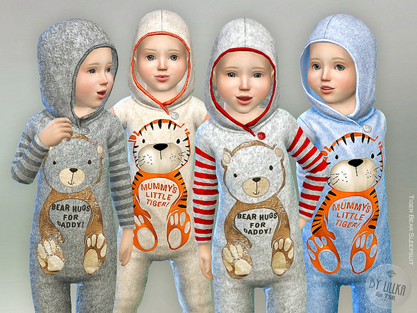 Tiger Bear Sleepsuit by lillka at TSR image 386 Sims 4 Updates