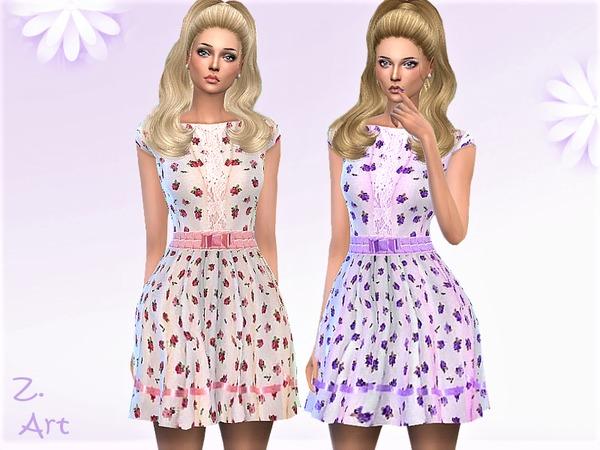 Sims 4 VintageZ 06 romantic dress by Zuckerschnute20 at TSR
