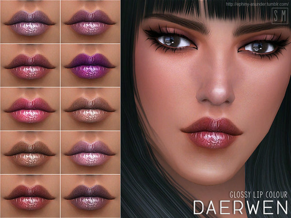 Daerwen Glossy Lip Colour by Screaming Mustard at TSR image 3916 Sims 4 Updates