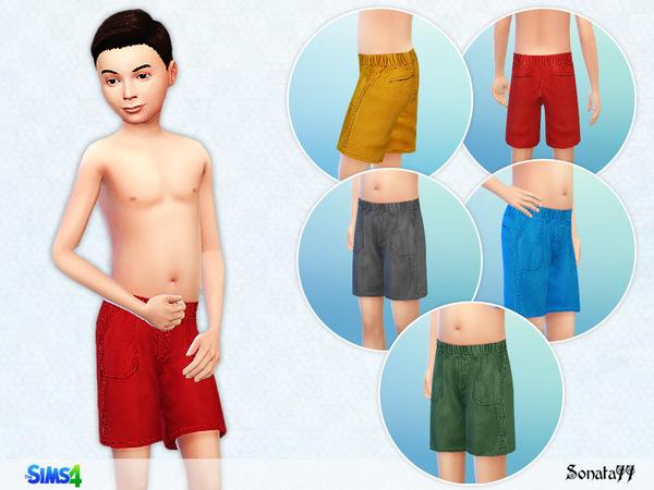 Sims 4 Cargo shorts for boys by Sonata77 at TSR