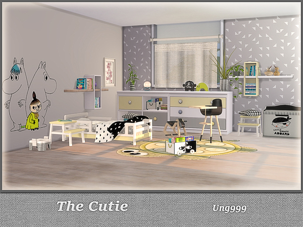The Cutie toddler room by ung999 at TSR image 404 Sims 4 Updates