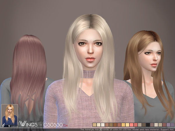 Hair OS0530 by wingssims at TSR image 4101 Sims 4 Updates