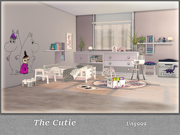 The Cutie toddler room by ung999 at TSR image 419 Sims 4 Updates