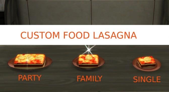 Lasagna Custom food by icemunmun at Mod The Sims image 4214 670x366 Sims 4 Updates