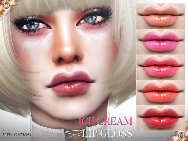 Ice Cream Lips N133 by Pralinesims at TSR image 423 Sims 4 Updates