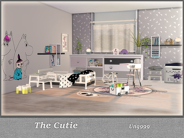 The Cutie toddler room by ung999 at TSR image 425 Sims 4 Updates