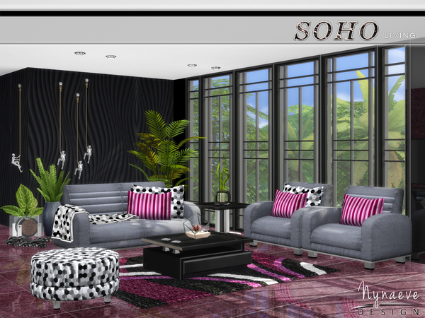 Soho Living Room by NynaeveDesign at TSR image 428 Sims 4 Updates