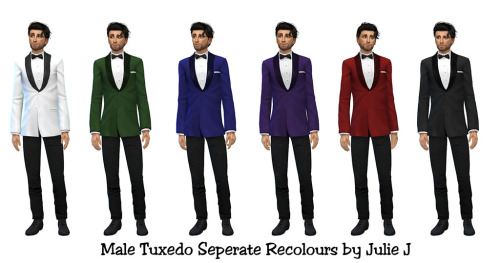 Sims 4 Male Tuxedo Seperate Recolours at Julietoon – Julie J
