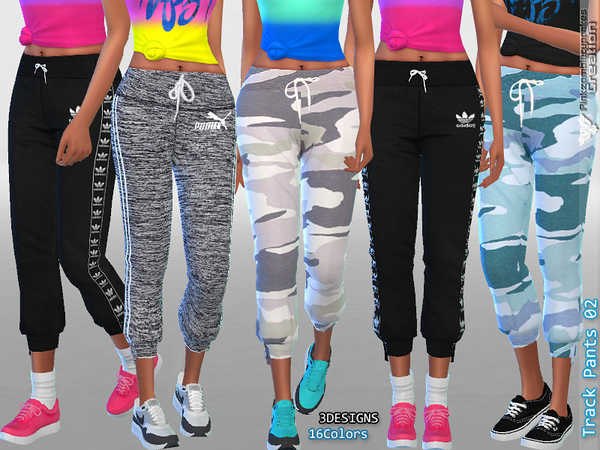 Sims 4 Track Pants Collection 02 by Pinkzombiecupcakes at TSR