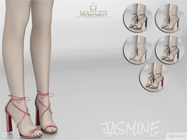 Sims 4 Madlen Jasmine Shoes by MJ95 at TSR