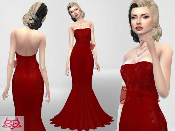 Sims 4 Wedding Dress 4 recolor 1 by Colores Urbanos at TSR