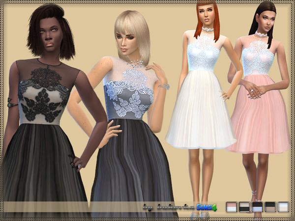 Sims 4 Dress Transparent Skirt by bukovka at TSR