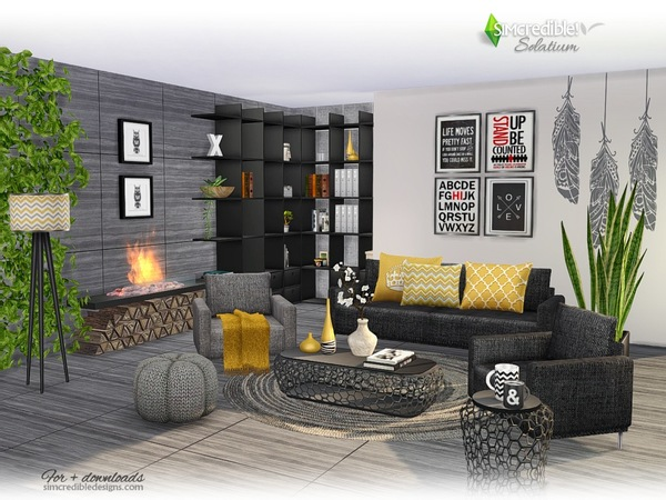 Solatium living room by SIMcredible at TSR image 460 Sims 4 Updates