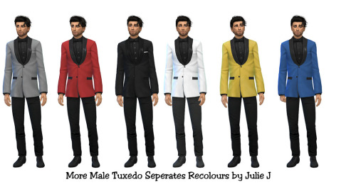 More Male Tuxedo Seperate Recolours at Julietoon – Julie J image 461 Sims 4 Updates