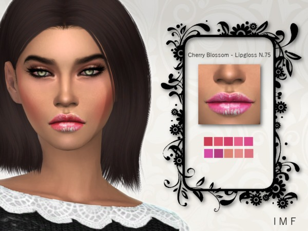 IMF Cherry Blossom Lipgloss N.75 by IzzieMcFire at TSR image 4610 Sims 4 Updates