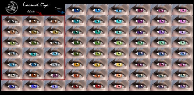 Sims 4 Caramel Eyes by Sevorelle at Mod The Sims