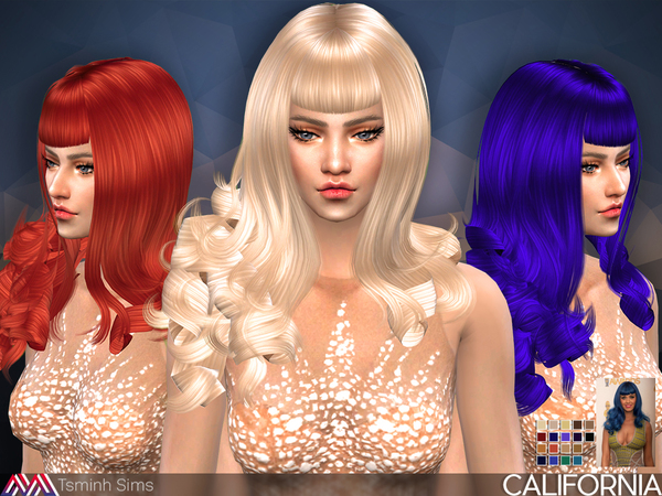 Sims 4 California Hair 30 by TsminhSims at TSR