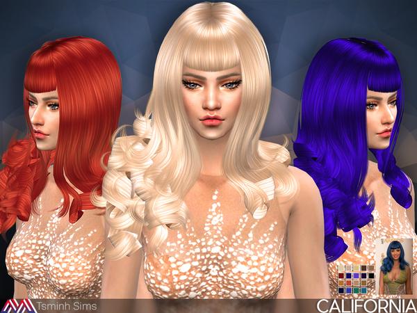 California Hair 30 by TsminhSims at TSR image 47 Sims 4 Updates
