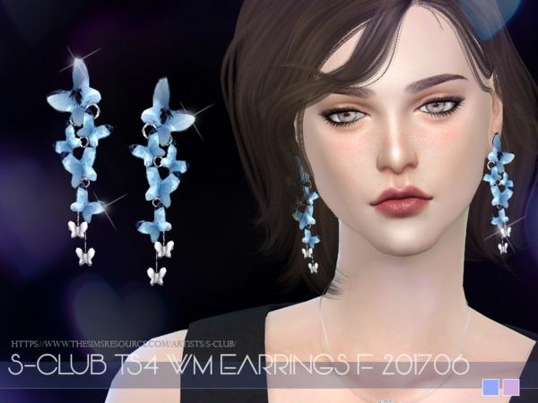 Sims 4 EARRINGS F 201706 by S Club WM at TSR