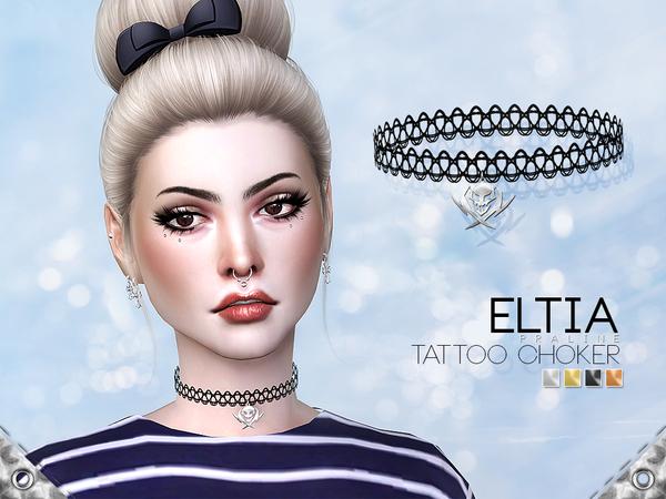 Eltia Tattoo Choker by Pralinesims at TSR image 5100 Sims 4 Updates