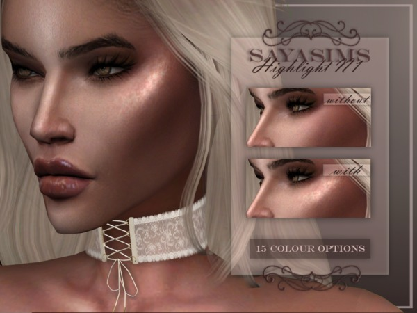 Highlight N1 Accessory and Tattoo no blush by SayaSims at TSR image 5117 Sims 4 Updates
