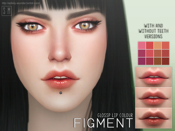 Sims 4 Figment Glossy Lip Colour by Screaming Mustard at TSR