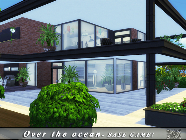 Over the ocean house by Danuta720 at TSR image 5417 Sims 4 Updates