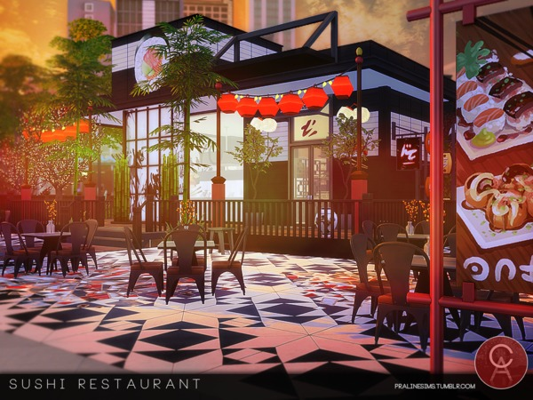 Sushi Restaurant by Pralinesims at TSR image 545 Sims 4 Updates
