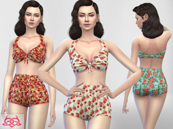 Pin up Swimwear 1 RECOLOR 3 by Colores Urbanos at TSR image 548 Sims 4 Updates