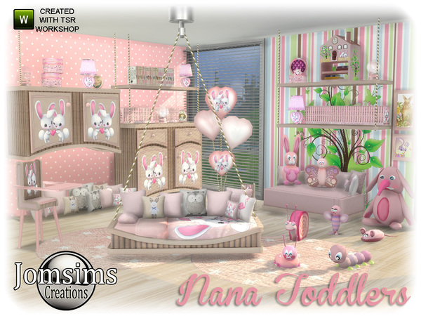 Nana toddlers bedroom by jomsims at TSR image 550 Sims 4 Updates