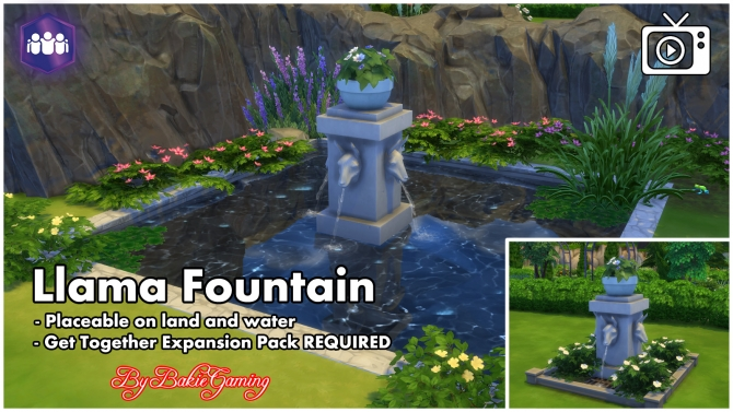 Llama Fountain By Bakie At Mod The Sims Sims 4 Updates