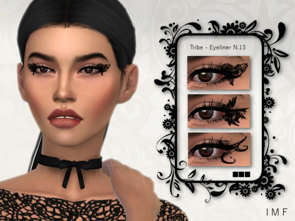 IMF Tribal Eyeliner N.13 by IzzieMcFire at TSR image 555 Sims 4 Updates