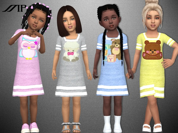 MP Toddler Sporty Dress by MartyP at TSR image 5617 Sims 4 Updates