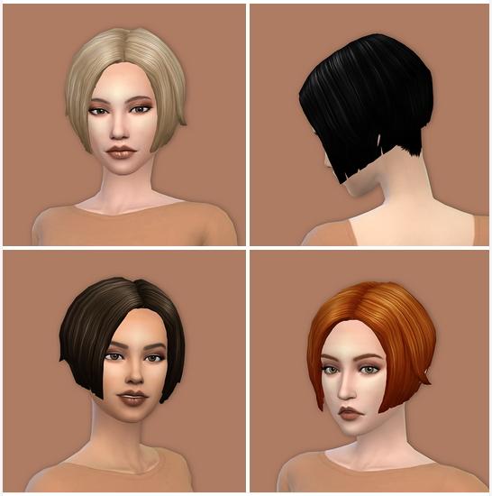 Sims 4 Magic bots short bob recolors at Deeliteful Simmer