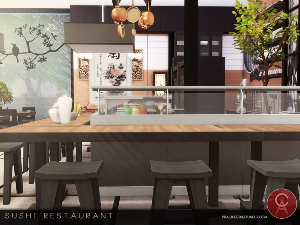 Sushi Restaurant by Pralinesims at TSR image 565 Sims 4 Updates