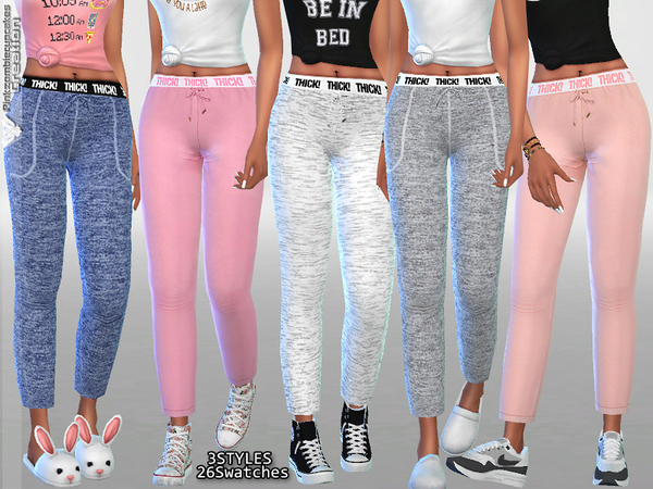 Sims 4 Kylie Pyjama Pants Collection by Pinkzombiecupcakes at TSR