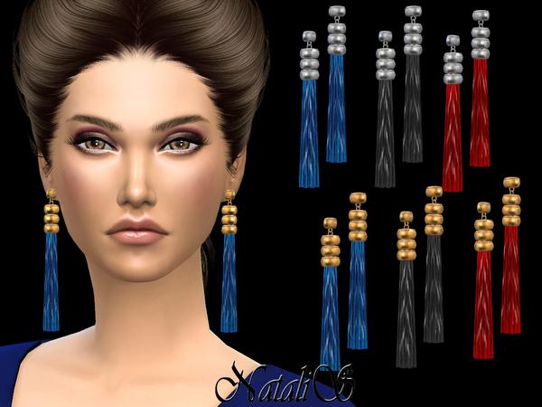 Silk tasseled earrings by NataliS at TSR image 57 Sims 4 Updates