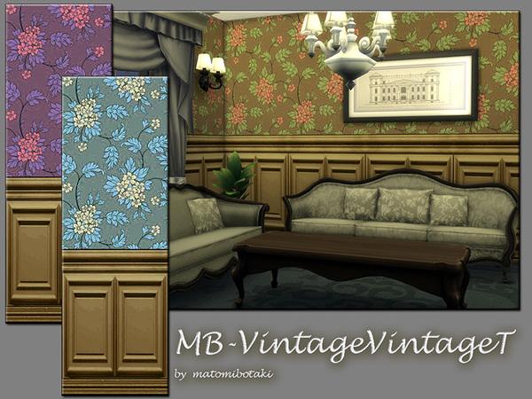 MB Vintage Venue T wallpaper by matomibotaki at TSR image 5714 Sims 4 Updates