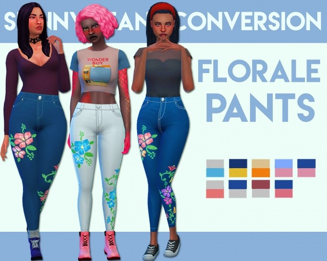 Florale Pants by Weepingsimmer at SimsWorkshop image 5719 670x536 Sims 4 Updates
