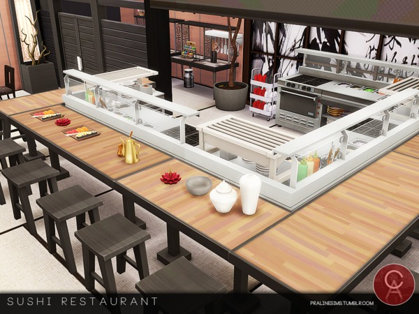Sushi Restaurant by Pralinesims at TSR image 575 Sims 4 Updates