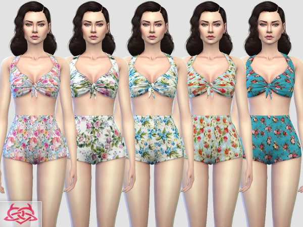 Pin up Swimwear 1 RECOLOR 3 by Colores Urbanos at TSR image 578 Sims 4 Updates